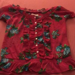 Hollister flowered shirt